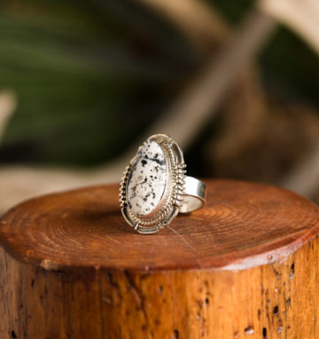 White Buffalo Turquoise Ring